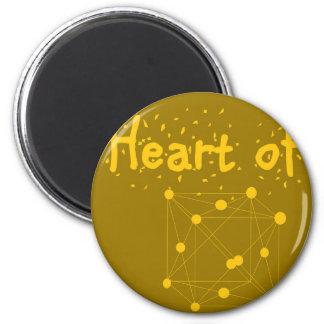 Imã coração de ouro