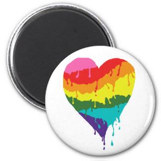 Imã Coração do arco-íris