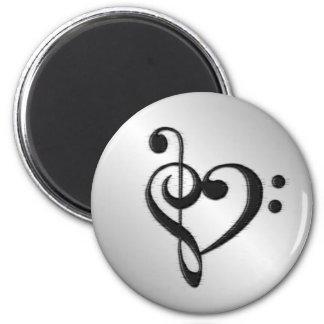 Imã Coração do Clef da música