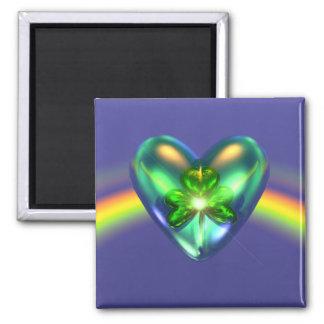 Imã Coração do trevo do dia do St. Patricks
