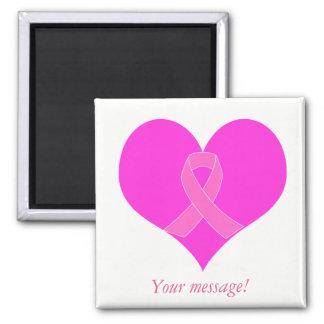 Imã Coração e design da caridade do cancro da mama da