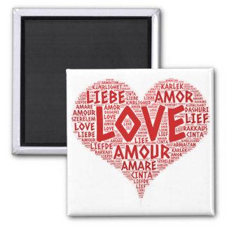 Imã Coração ilustrado com palavra do amor