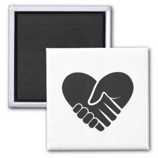 Imã Coração preto conectado amor