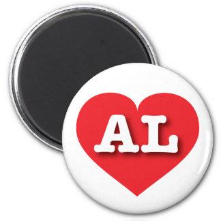 Imã Coração vermelho de Alabama - amor grande