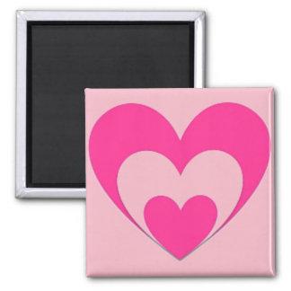 Imã Corações cor-de-rosa