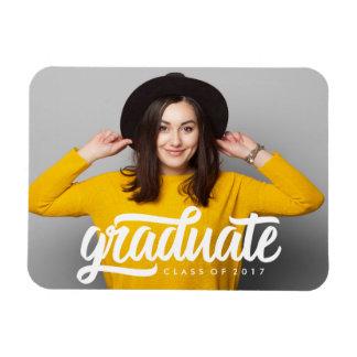 Ímã corajoso da foto da graduação do formando  