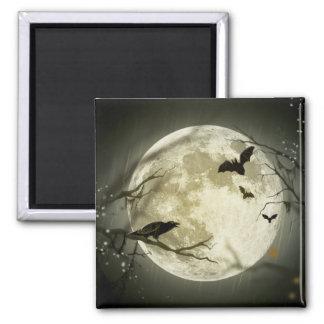 Imã Corvos assustadores da lua do Dia das Bruxas