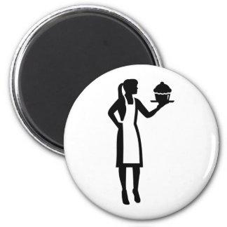 Imã Cozinheiro chefe de pastelaria fêmea