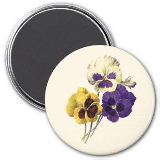 Imã Crachá do amor perfeito da flor do vintage