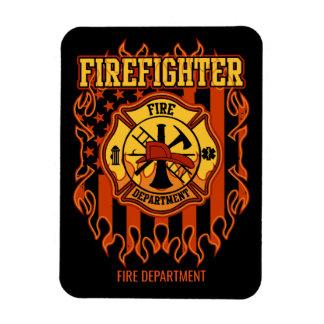 Ímã Crachá e bandeira do departamento dos bombeiros do