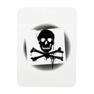 Ímã Crânio de bandeira de pirata e Crossbones Roger
