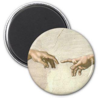 Imã Criação das mãos de Adam - Michelangelo