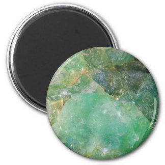 Imã Cristal de quartzo verde do absinto