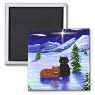 Imã Cristão do rato do gato do feriado do Natal