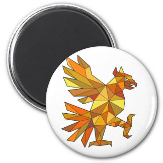 Imã Cuauhtli Glifo Eagle que luta o baixo polígono da