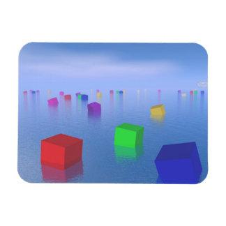 Ímã Cubos coloridos que flutuam - 3D rendem
