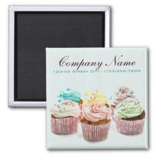 Imã cupcake colorido da padaria elegante moderna
