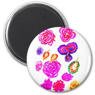 Imã Cursos coloridos 2 das flores