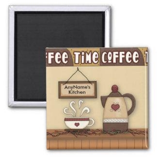 Ímã customizável da cozinha do café ímã quadrado