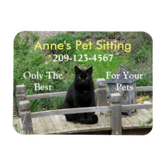 Ímã customizável do negócio do gato preto