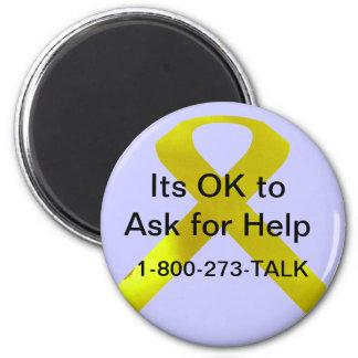 Ímã da ajuda da consciência do suicídio ímã redondo 5.08cm
