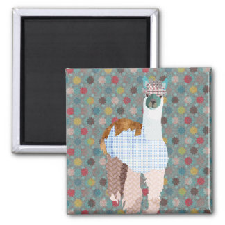 Ímã da arte da alpaca ímã quadrado