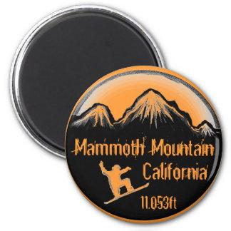 Ímã da arte do snowboard de Mammoth Mountain Calif Ímã Redondo 5.08cm