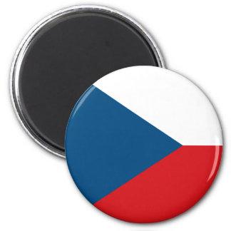 Ímã da bandeira da república checa ímã redondo 5.08cm