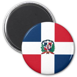 Ímã da bandeira da República Dominicana Ímã Redondo 5.08cm