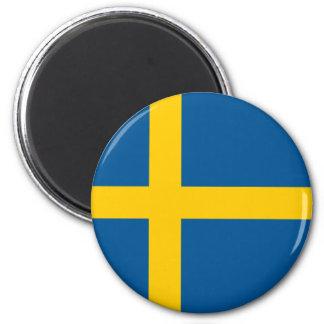 Ímã da bandeira da suecia ímã redondo 5.08cm