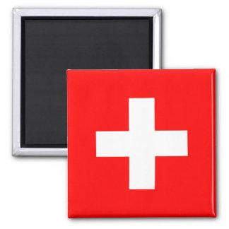 Ímã da bandeira da suiça ímã quadrado