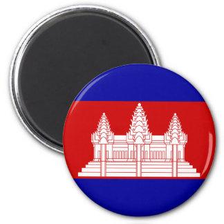 Ímã da bandeira de Cambodia Ímã Redondo 5.08cm