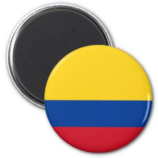 Ímã da bandeira de Colômbia Ímã Redondo 5.08cm