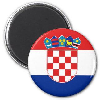 Ímã da bandeira de Croatia Ímã Redondo 5.08cm