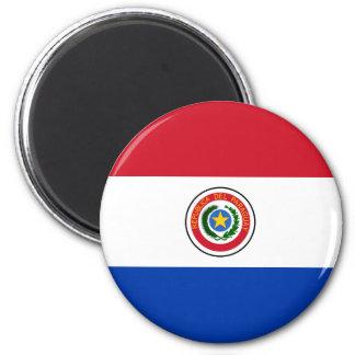 Ímã da bandeira de Paraguai Ímã Redondo 5.08cm