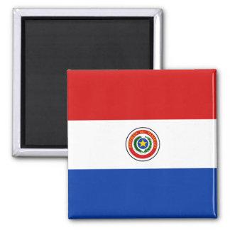 Ímã da bandeira de Paraguai Ímã Quadrado