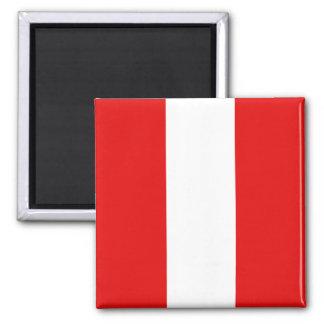 Ímã da bandeira de Peru Ímã Quadrado