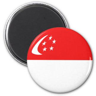 Ímã da bandeira de Singapore Fisheye Ímã Redondo 5.08cm