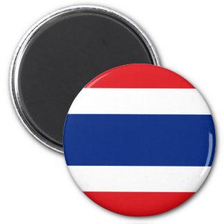 Ímã da bandeira de Tailândia Ímã Redondo 5.08cm