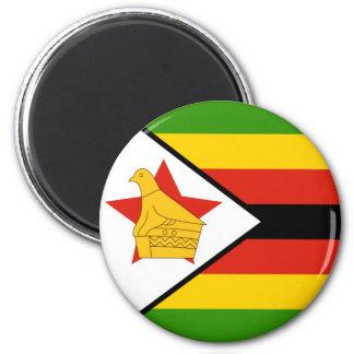 Ímã da bandeira de Zimbabwe Ímã Redondo 5.08cm
