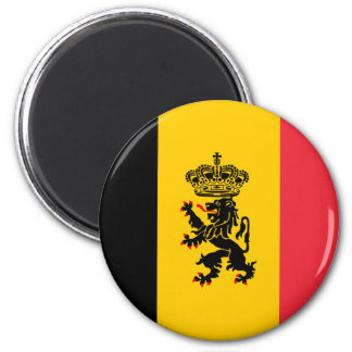 Ímã da bandeira do estado de Bélgica Ímã Redondo 5.08cm