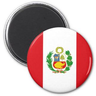 Ímã da bandeira do estado de Peru Ímã Redondo 5.08cm