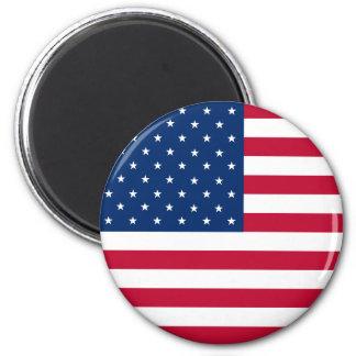 Ímã da bandeira dos EUA Ímã Redondo 5.08cm
