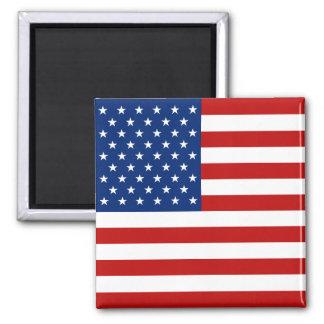 Ímã da bandeira dos EUA Ímã Quadrado