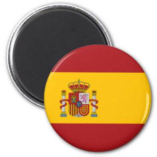 Ímã da bandeira nacional da espanha ímã redondo 5.08cm