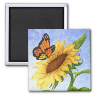 Ímã da borboleta & do girassol imas