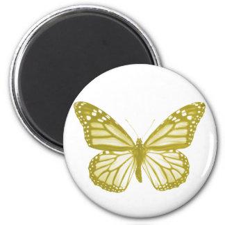 Ímã da borboleta do ouro ímã redondo 5.08cm