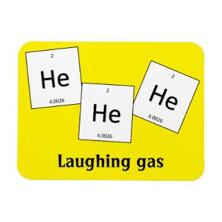 Ímã da chalaça do elemento do gás hilariante do