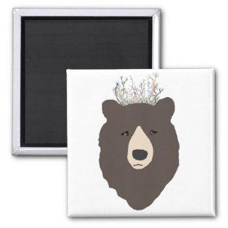 Ímã da coroa da flor do urso imã de refrigerador