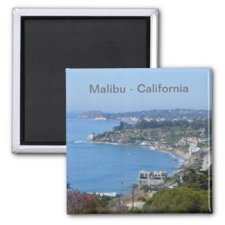 Ímã da costa de Malibu! Ímã Quadrado
